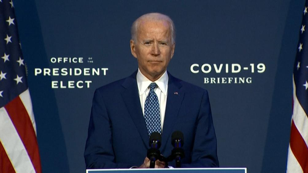 Biden dará un discurso de cara a un Día de Acción de Gracias marcado por el coronavirus