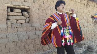 En su regreso a Bolivia, Evo Morales llegó a su tierra natal, Orinoca