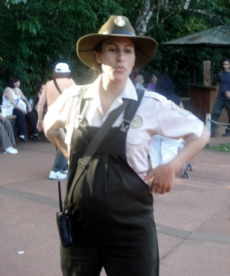 María Laura trabajó en Iguazú, incluso durante el embarazo de Iara.