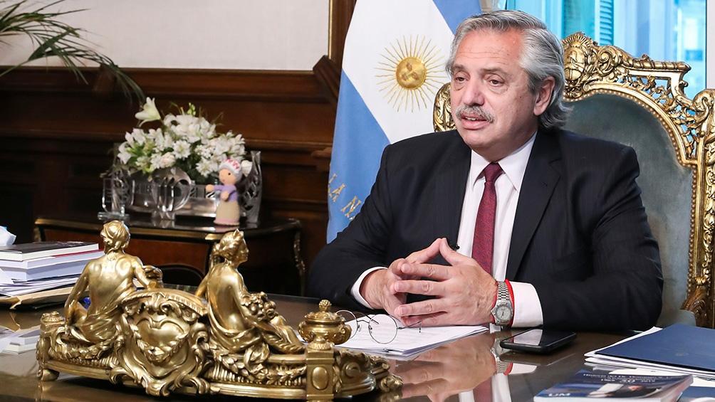 """""""Tengo optimismo de que con Biden podemos estar más tranquilos"""", dijo Alberto Fernández"""