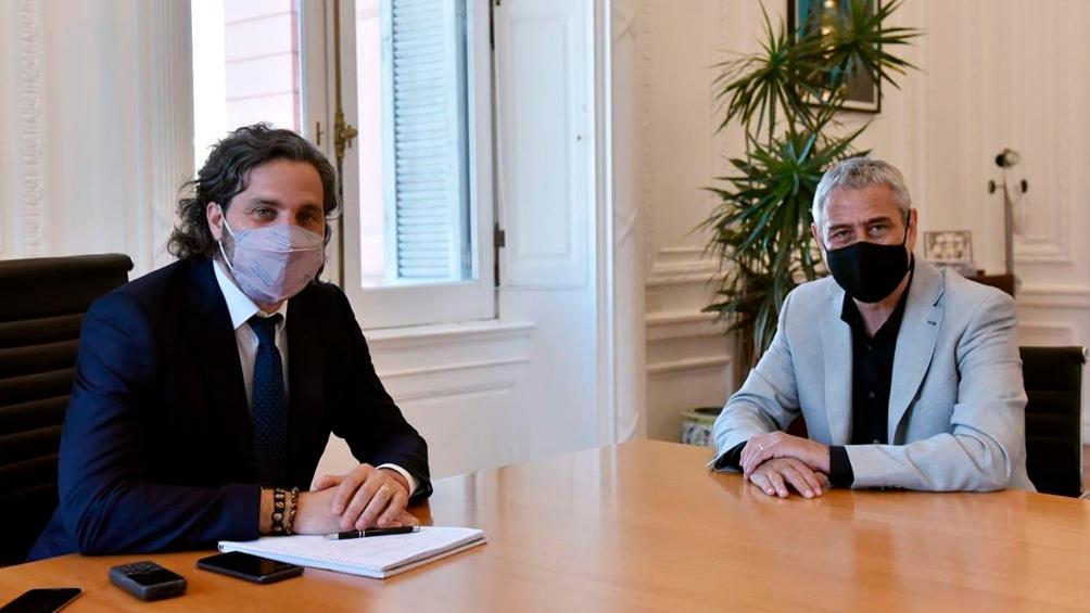 Ferraresi fue recibido este jueves en Casa Rosada por el jefe de Gabinete Santiago Cafiero