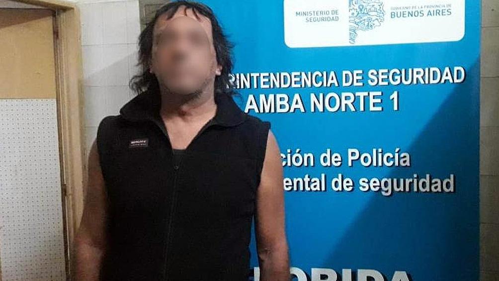 Zanocco fue detenido en avenida Bartolomé Mitre y Laprida, Florida, a solo nueve cuadras del domicilio de la víctima.