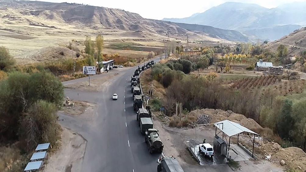 Rusia que desplegó fuerzas de paz en Nagorno Karabaj