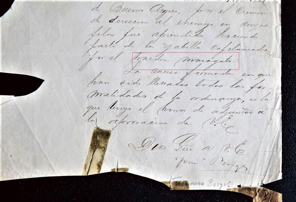 La carta firmada por Francisco que atesora el sobrino del escritor.