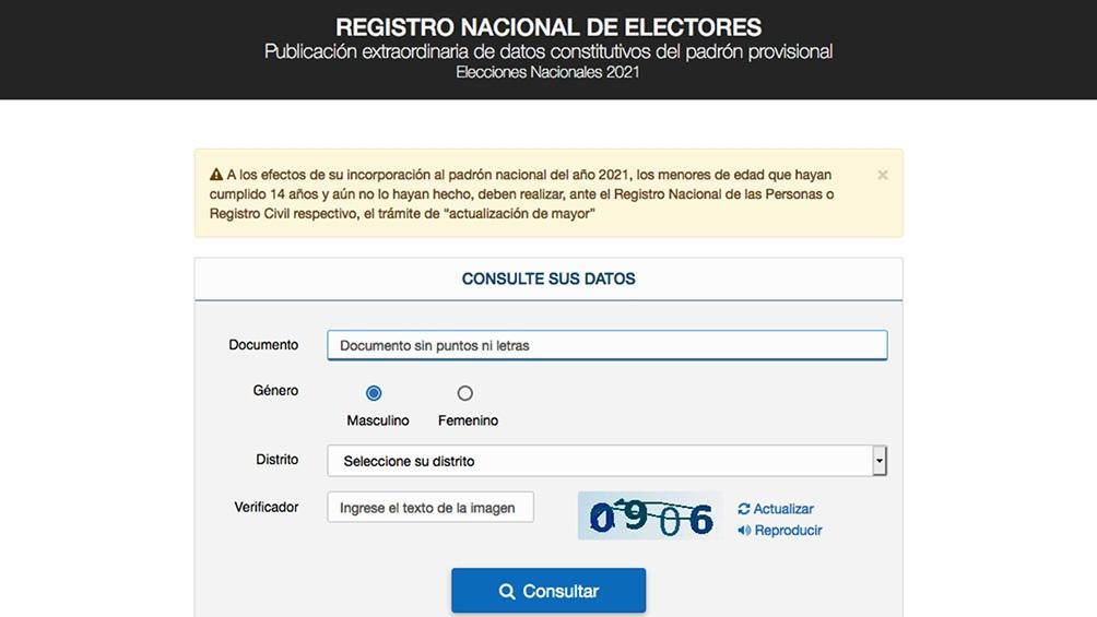 Ya se puede consultar el padrón electoral provisorio para las elecciones  2021 - Télam - Agencia Nacional de Noticias