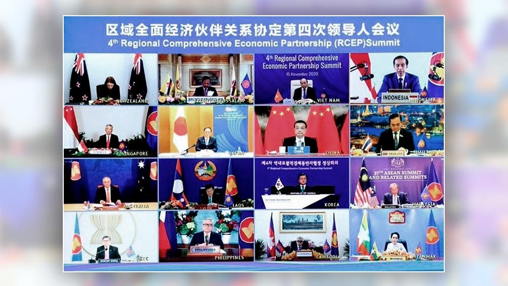 La conferencia virtual en la que se logró el acuerdo comercial.