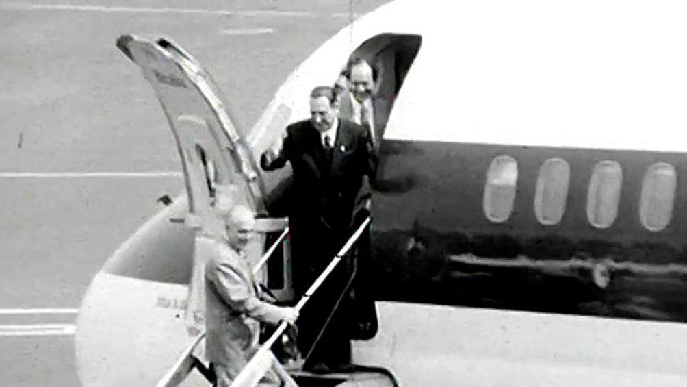El regreso de Perón desde el exilio, el 17 de noviembre de 1972.