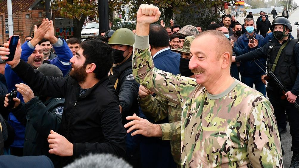 Tras la firma del alto el fuego que puso fin a los enfrentamientos que se desarrollaban desde el 27 de septiembre.
