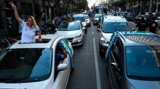 Caravanas en apoyo al Gobierno y al proyecto de Aporte Solidario