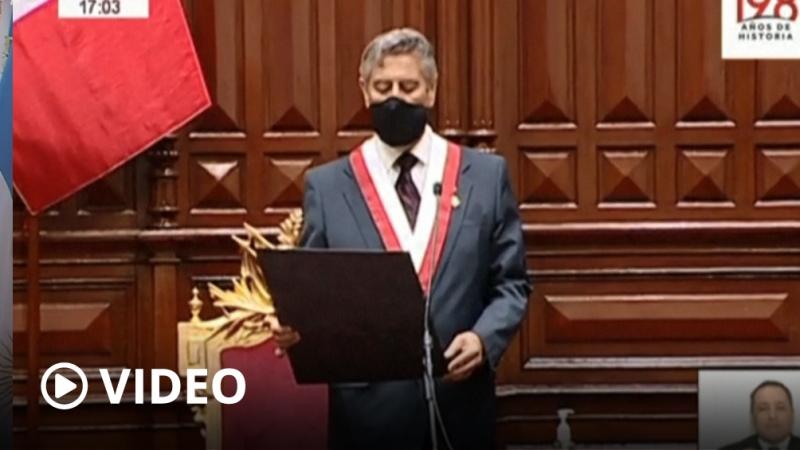 Francisco Sagasti  se convirtió en el tercer presidente de Perú en una semana