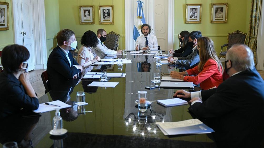 El Gabinete Económico se reunió este miércoles en Casa Rosada.