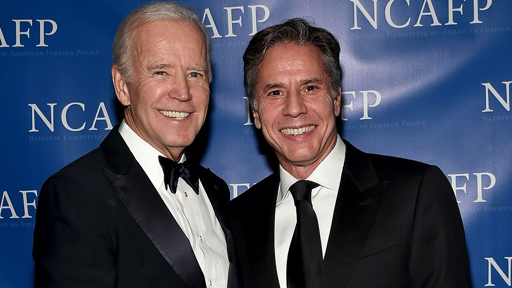 Blinken junto al presidente electo, Joe Biden.