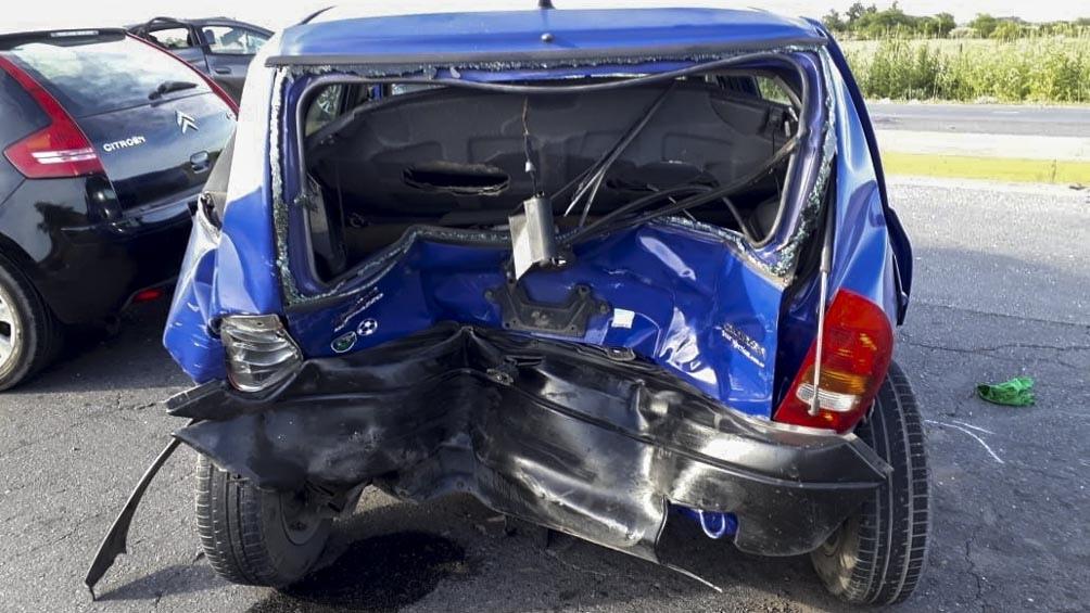 El Citröen C4 que conducía Callia impactó contra los vehículos que habían chocado antes.