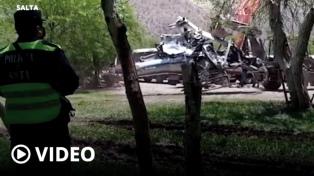 El helicóptero de Brito cayó al impactar con el cable de la tirolesa