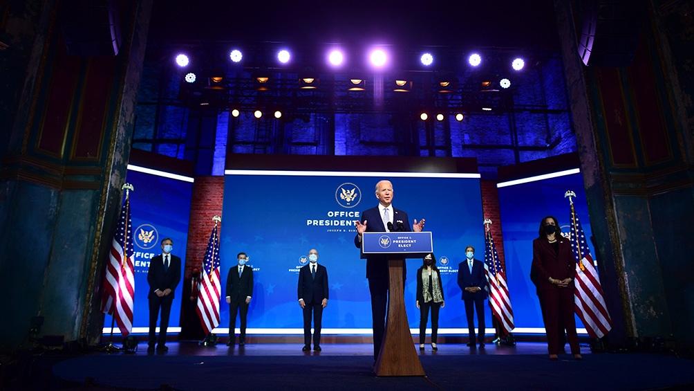 """Biden dijo que EEUU está """"listo para liderar el mundo"""""""
