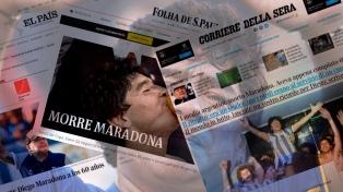 La muerte de Maradona llega a la tapa de todos los medios digitales del mundo