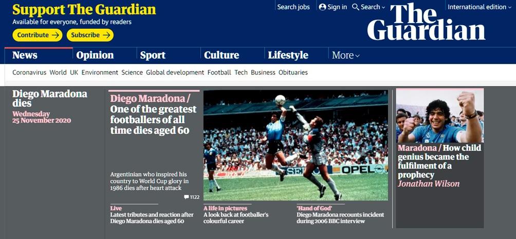 The Guardian también se hizo eco de la noticia.