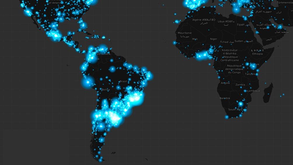 El mapa de calor de Twitter.