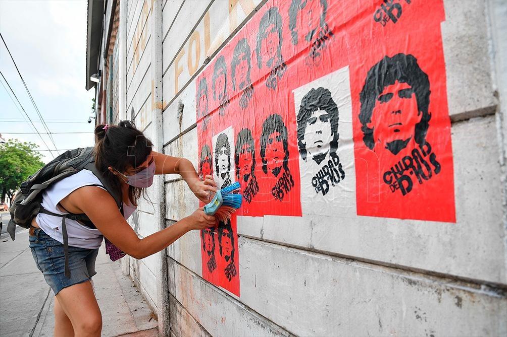 El Barrio de La Paternal se transformó en uno de los puntos para recordar al ídolo popular.