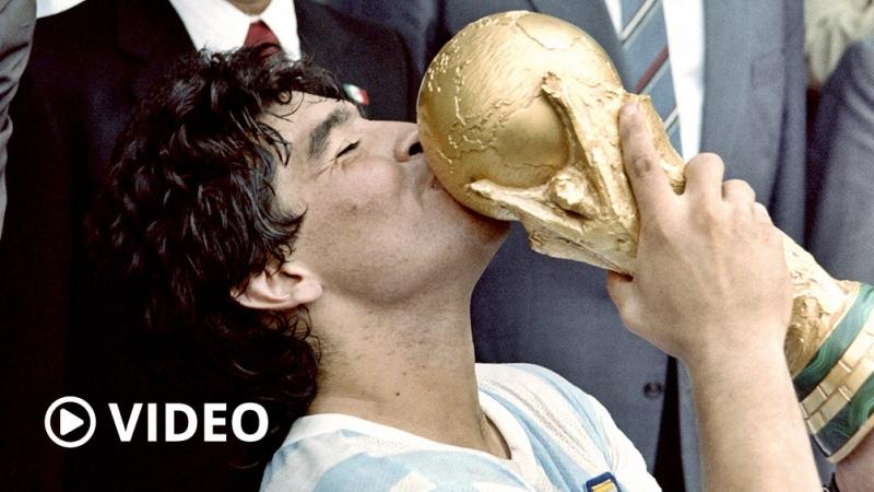 El homenaje de Télam a Maradona