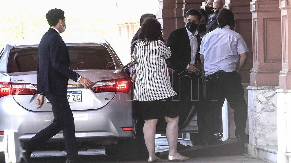 Axel Kicillof, en su llegada a la Casa Rosada.