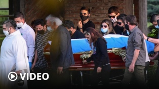 Despidieron a Maradona con una ceremonia íntima