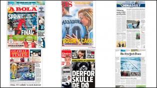 La despedida de Maradona, en los medios de todo el mundo