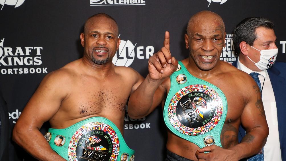 Mike Tyson volvió a pelear en una exhibición y empató ante Roy Jones