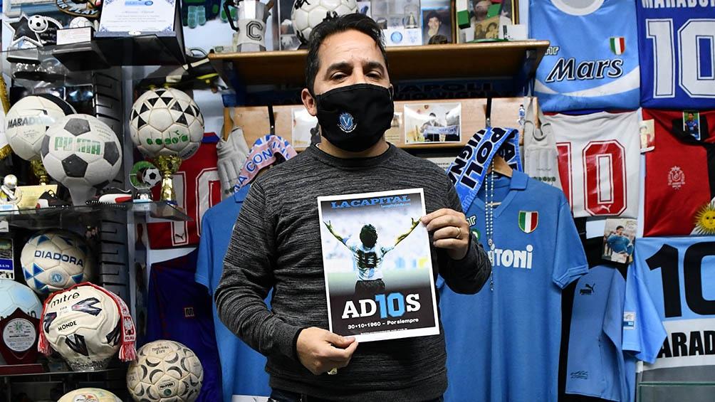 """Vignati: """"Para mí, Maradona no muere más. Se fue físicamente pero su alma quedó aquí""""."""