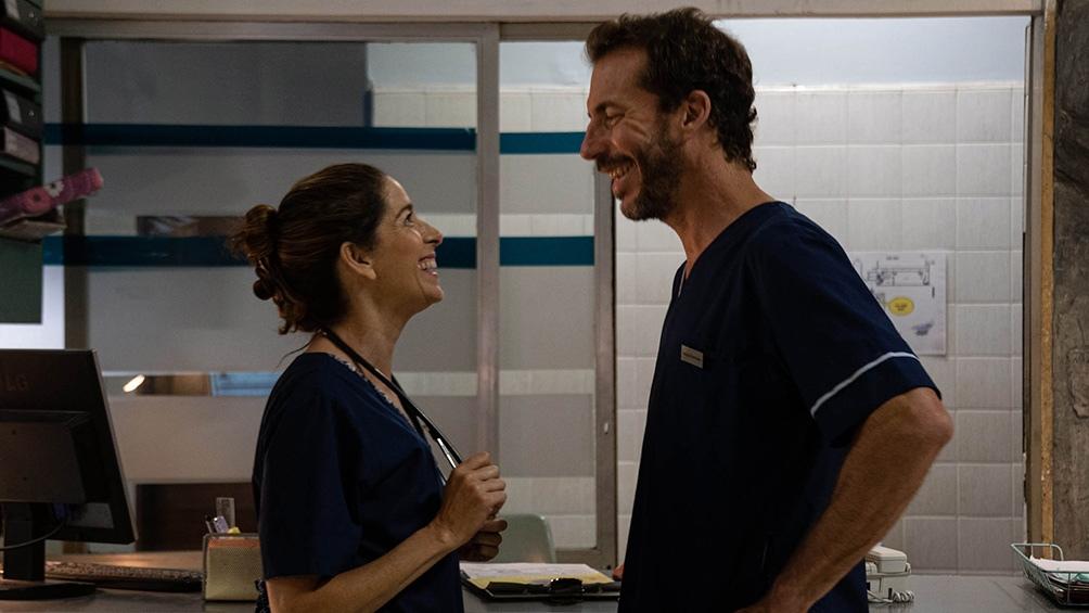 Laura Novoa y Esteban Bigliardi, dos de los protagonistas del filme.