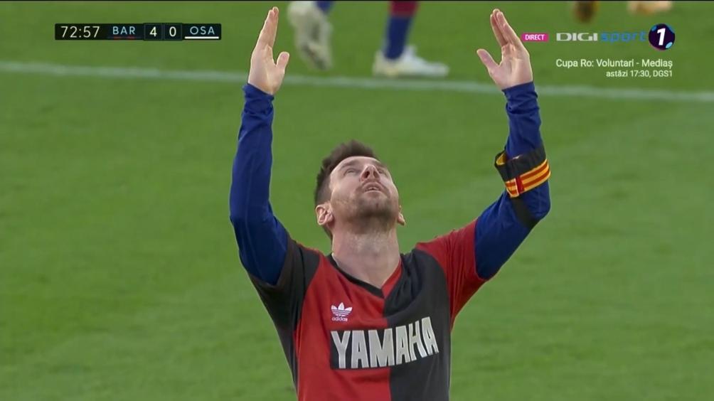 Homenaje de Messi