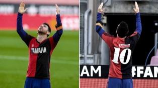 Ratifican la amarilla y la multa a Messi por el homenaje a Maradona