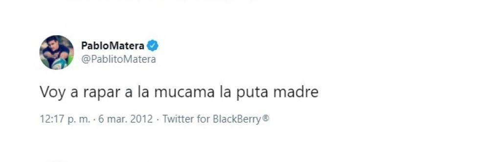 Los tuits xenófobos de Matera.