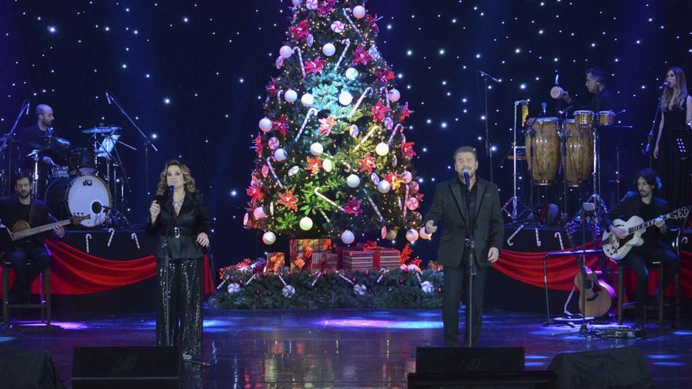 La Navidad como eje del show del duo.