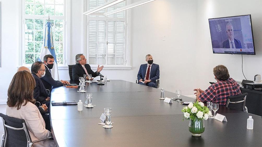 El Presidente mantuvo en la residencia de Olivos un encuentro con el titular de Ford Argentina, Martín Galdeano.