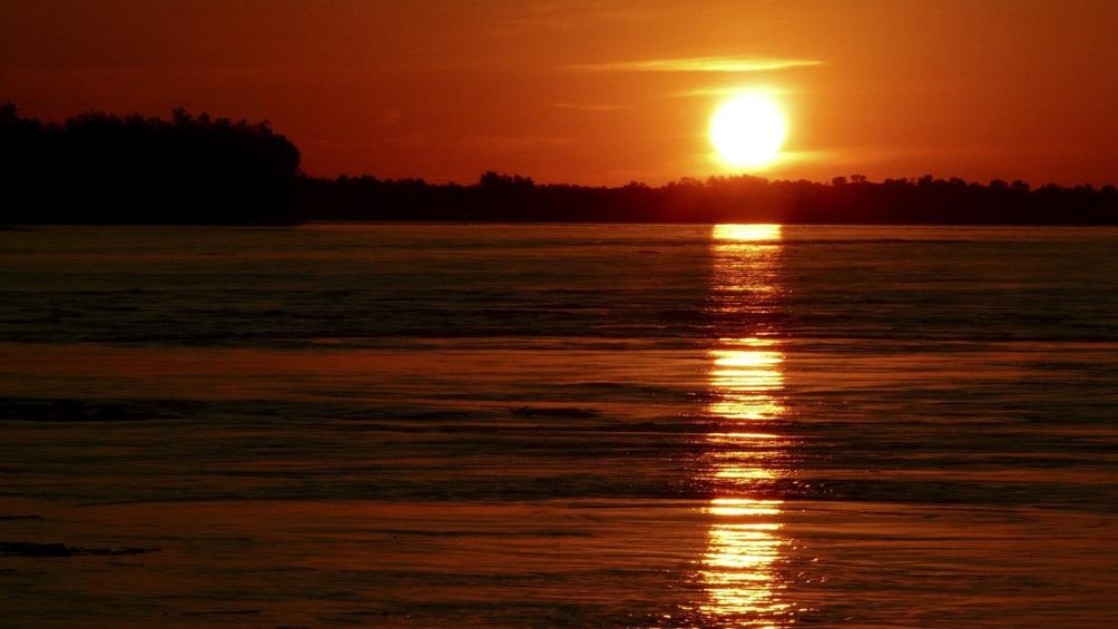 Los amaneceres y los atardeceres sobre el río Bermejo son uno de los atractivos del Parque.