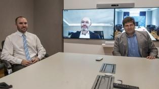 Guzmán y Chodos mantuvieron un contacto virtual con el director de Estados Unidos en el FMI