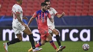Sevilla perdió por goleada ante Chelsea