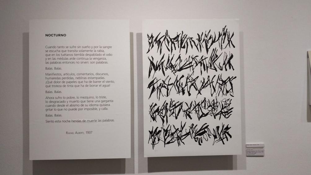"""La muestra se llama """"Te escribiré siempre. Correspondencias Rafael Alberti – León Ferrari""""."""