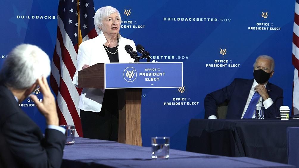 Biden presentó su equipo económico liderado por Janet Yellen