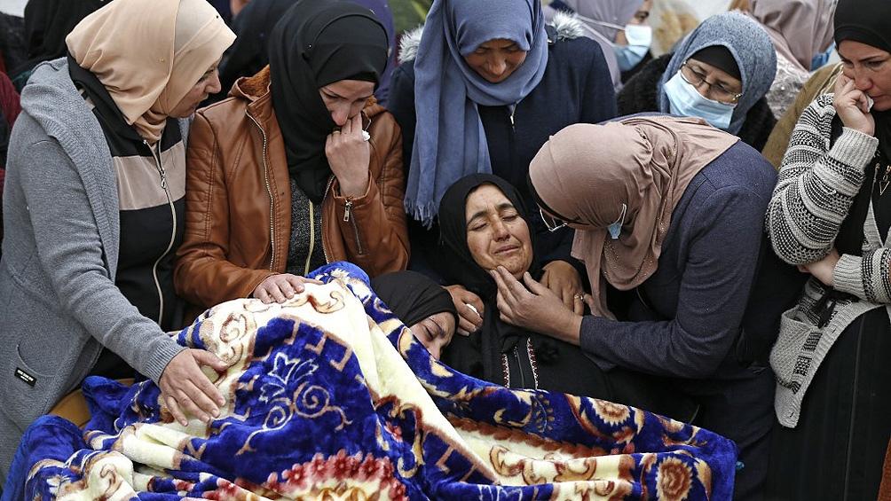 Funeral del adolescente palestino muerto el viernes