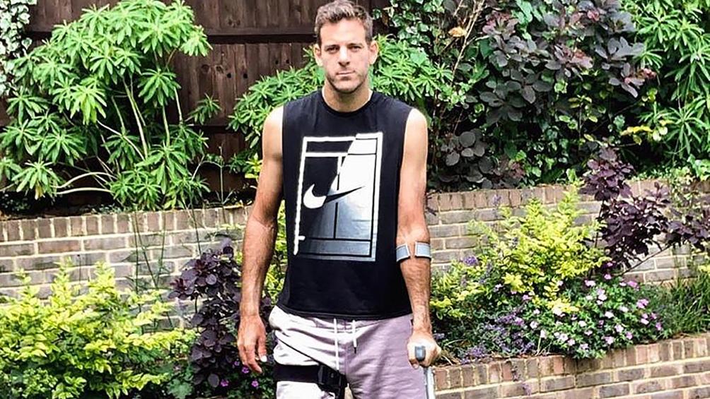 Del Potro no compite desde junio de 2019 y trata de rehabilitarse luego de tres cirugías de rodilla derecha.