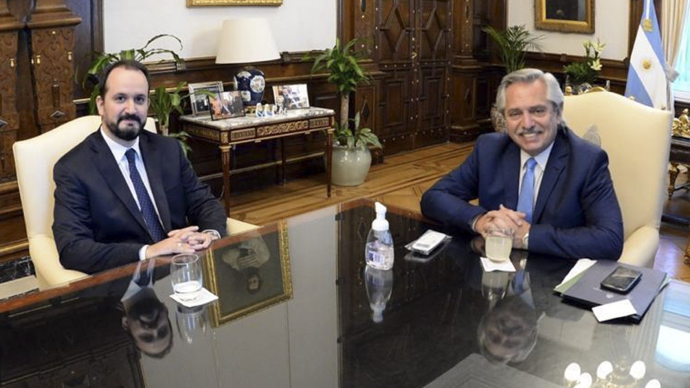 Antes de partir, el designado embajador en Italia se reunió con el presidente Fernández.