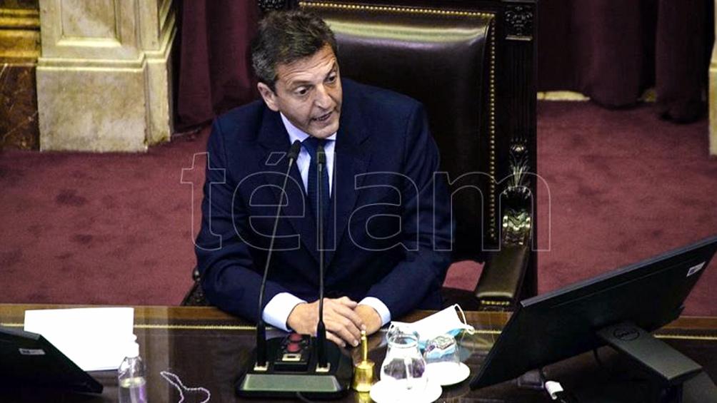 Sergio Massa planteó hoy la necesidad de un acuerdo para postergar las primarias o para realizarlas en simultáneo con los comicios generales para renovar el Parlamento.