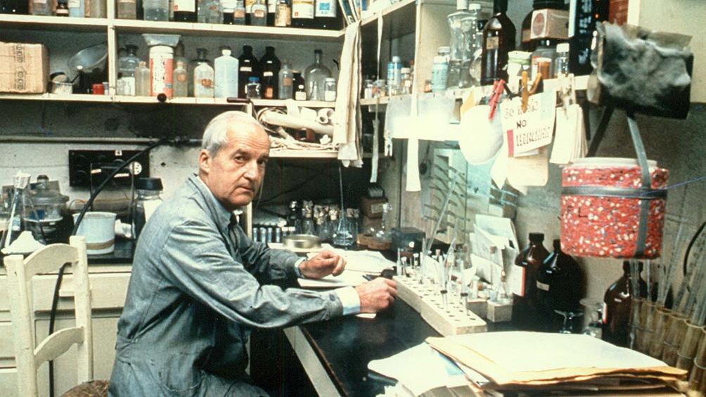 Leloir, en un modesto rincón del Instituto de Investigaciones Bioquímicas que hoy lleva su nombre.