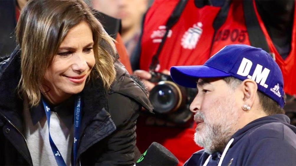 Entrevistando a Maradona, como DT de Gimnasia.