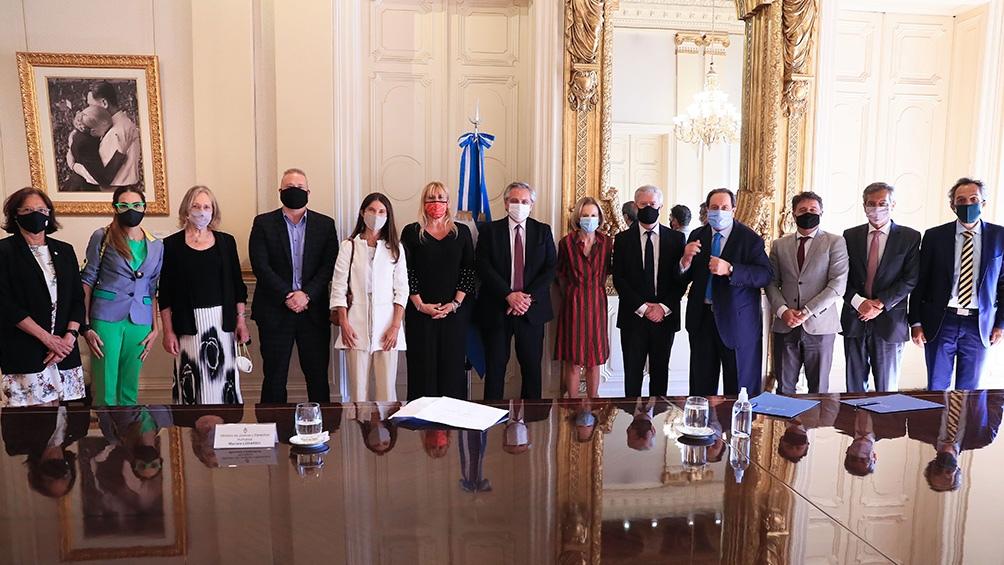 El Consejo Consultivo con el Presidente.