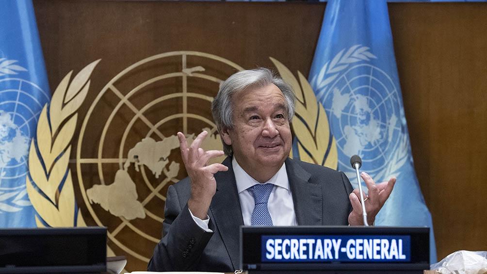 """""""Estamos dispuestos a reanudar el trabajo del cuarteto y contribuir al diálogo entre las partes del conflicto"""", dijo Guterres"""