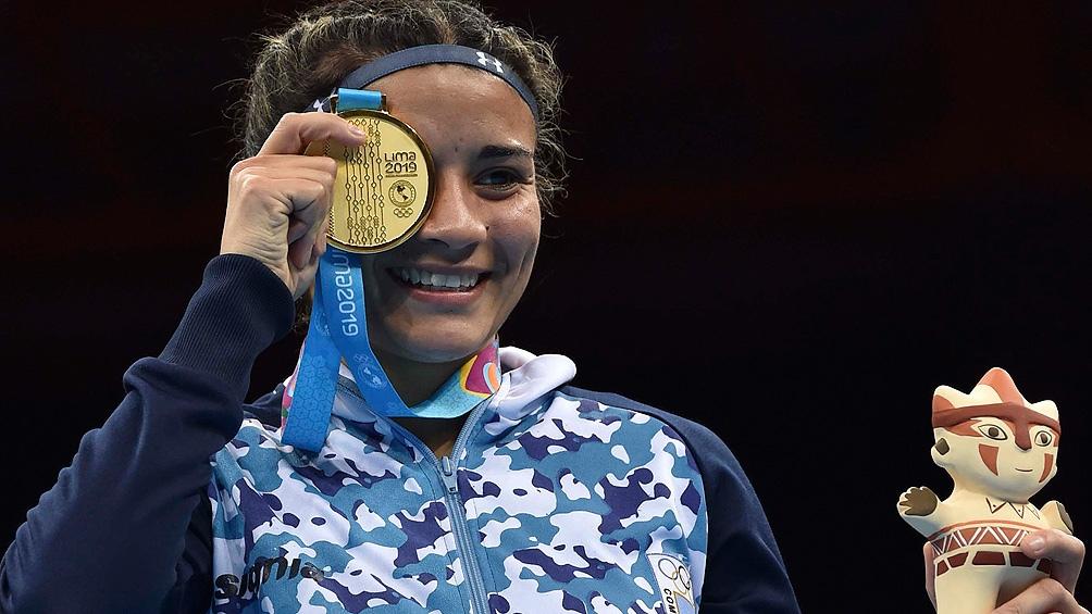 """""""Yonela"""" Sánchez fue la primera boxeadora argentina en ganar una medalla de oro en los Juegos Panamericanos."""