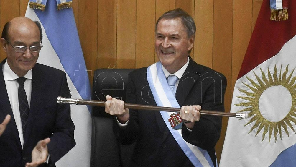 El gobernador Schiaretti, al asumir.